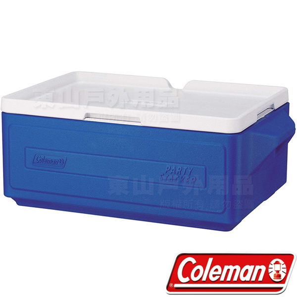 Coleman CM-1326藍色 23.5L可疊放置物型冰桶 公司貨 建議搭配冷媒冰磚