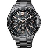 限量 CITIZEN 星辰 光動能鈦GPS衛星對時手錶-黑/43.5mm CC9017-59G