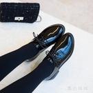 黑色小皮鞋女英倫風2020韓版百搭平底日系加絨學院風單鞋 LF1191『黑色妹妹』