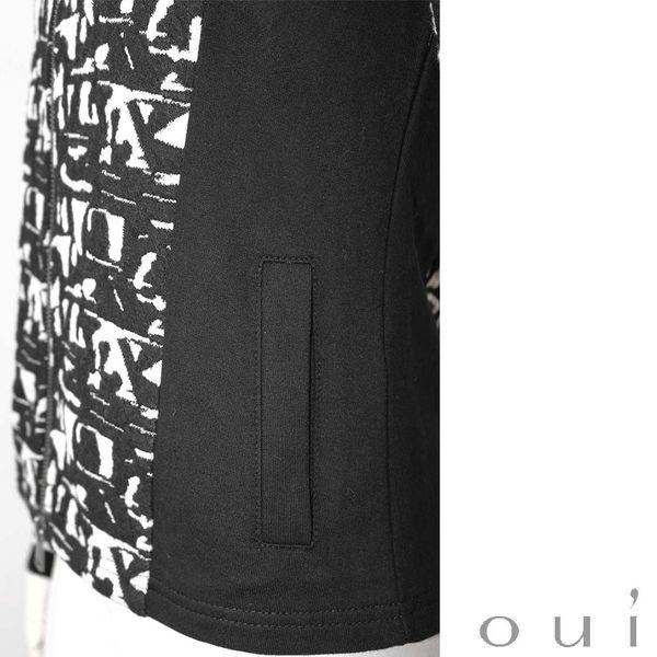 oui 德國品牌 運動風立體壓紋外套 (中大尺碼服飾)