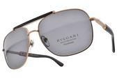 BVLGARI 偏光太陽眼鏡 BG5040K 200681 (棕金-灰) 上流奢華飛官款 偏光墨鏡 # 金橘眼鏡