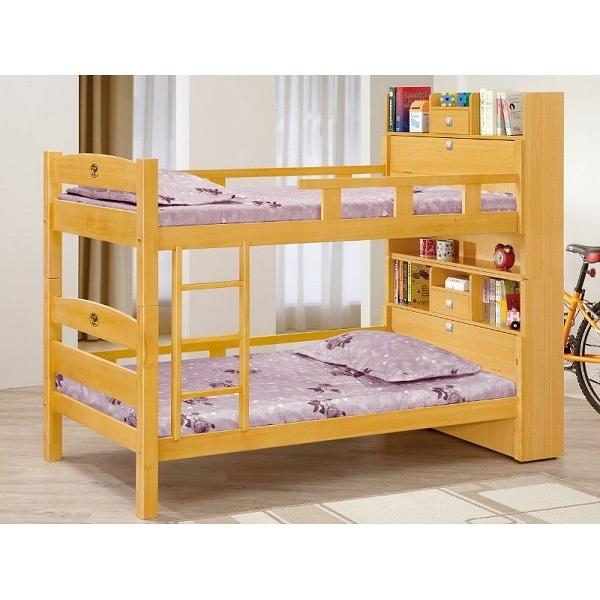 雙層床 MK-705-4 洛克3.5尺檜木色多功能雙層床 (不含床墊) 【大眾家居舘】