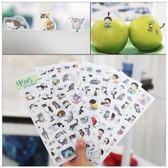 [24hr-現貨快出] 韓國 創意 透明 PVC 貼紙 可愛 貓咪 日記 相冊 手帳 貼紙 6張