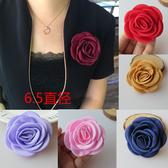 手工立體玫瑰花布藝花朵胸花胸針