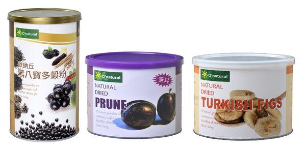歐納丘三入禮盒-黑八寶多穀粉+去籽黑棗乾+土耳其無花果
