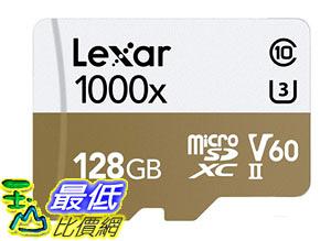 [8美國直購] Lexar 存儲卡 Professional 1000X 128GB MicroSDXC Uhs-II Card B00U77V5KU