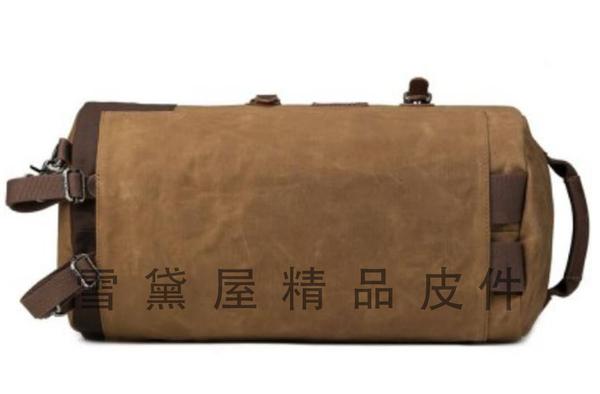 ~雪黛屋~troop 後背旅行圓筒運動包中容量可A4資料夾帆布經典包100%純棉加強防水帆布耐磨STRP0444