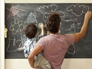 環保PVC黑板貼 創意塗鴉居家裝飾教學 可剪裁 不傷牆面 45x200cm 送5支粉筆【TA020】《約翰家庭百貨