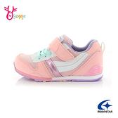 Moonstar月星童鞋 女童運動鞋 矯正鞋 HI系列 日本機能鞋 魔鬼氈 J9674#粉紅◆奧森鞋業