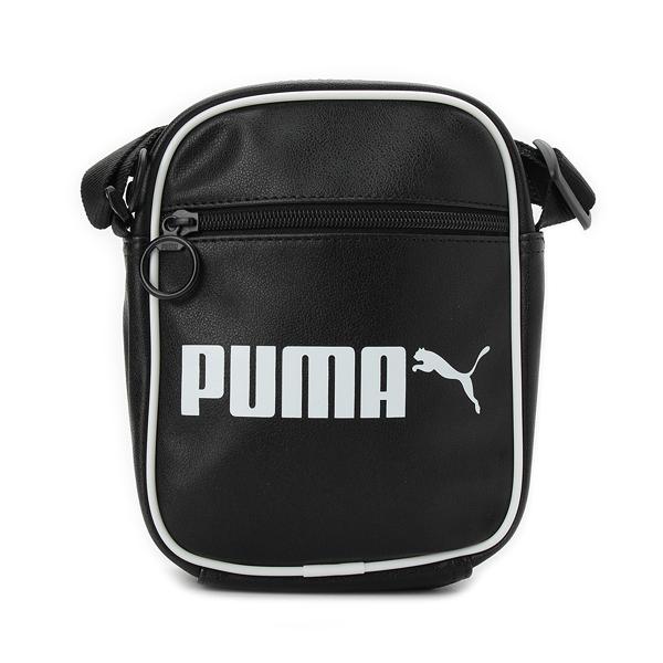 PUMA CAMPUS SHOULDER BAG 皮側背包 黑 076641-01