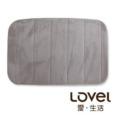里和Riho LOVEL速乾回彈記憶舒柔止滑浴墊/地墊(科技灰) 腳踏墊 防滑墊