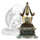 20公分 純銅菩提塔 釋迦牟尼佛 塔底可裝藏 銅色