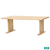 ◎實木餐桌 SAZANAMI 180 LBR 橡膠木 TW NITORI宜得利家居