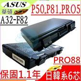 ASUS 電池- 華碩 P50,P81,A32-F82,A32-F52,L0690L6,K50AB-X2,K61IC-X3 ,P50IJ,P43,P53,P81IJ
