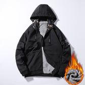 型男冬季韓版潮流外套 新款個性時尚男士夾克 男款冬天加絨百搭棉衣 男生冬天加厚保暖外衣