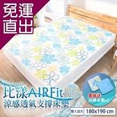 日本藤田 比漾AIR Fit涼感透氣支撐床墊-雙人加大(贈水洗支撐坐墊x2) 180*190*1.2 cm【免運直出】