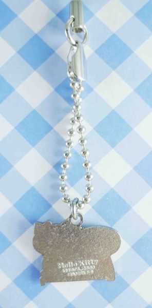 【震撼精品百貨】Hello Kitty 凱蒂貓~手機吊飾-黃磅秤(鐵鍊)