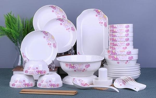 碗碟套裝景德鎮中式組合餐具