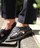 仿皮革編織涼鞋 日本品牌【coen】