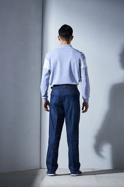 Emilio Valentino范倫鐵諾美式經典條紋純棉POLO衫 (灰/白/藍)