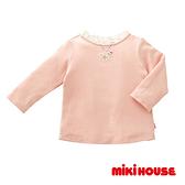 MIKI HOUSE 花朶項鍊長袖上衣(粉)