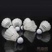 三段式羽毛球 12只裝耐打鵝毛球