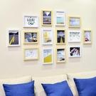 北歐風格7寸照片墻相框免打孔背板墻裝飾組合掛墻上家庭相冊客廳5 NMS蘿莉新品