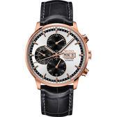 MIDO 美度 Commander 指揮官系列計時機械手錶-銀x玫塊金/黑 M0164143603159
