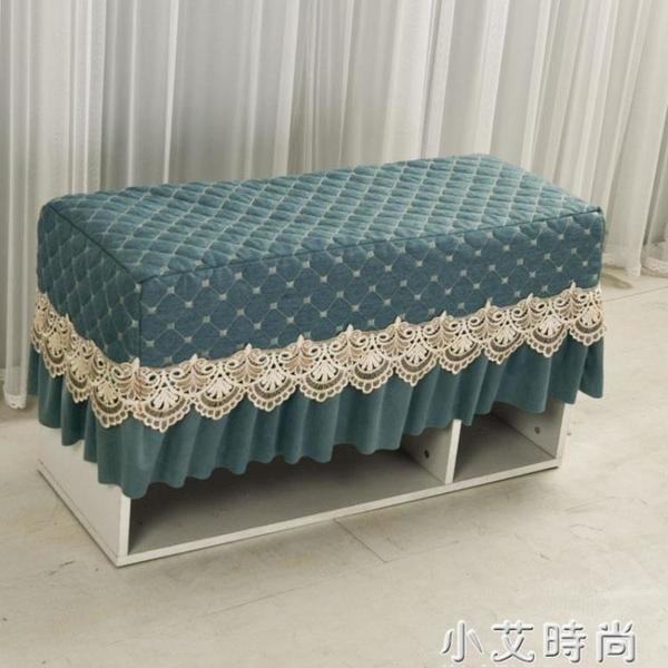 鋼琴凳罩換鞋布藝化妝凳套罩坐墊椅墊歐式蕾絲床頭柜罩定制套包郵 小艾新品