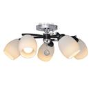 【燈王的店】半吸頂燈 5燈 水晶燈 房間燈 餐廳燈 客廳燈 半吸燈(熱銷款) 2387/5 (DM商品)