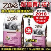 【買2.5KG送1.36kg】*KING WANG*加拿大 Zoe《天然系列-挑嘴貓室內化毛配方》 火雞+豌豆+馬鈴薯 2.5kg