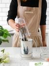 筷子盒 帶蓋子北歐植物陶瓷筷子筒家用瀝水筷子簍筷子桶筷子籠收納置物架【快速出貨】