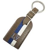 路易威登 LOUIS VUITTON LV 棕色Epi 水波紋行李牌吊飾(缺少釦環) M67363【BRAND OFF】