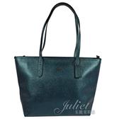 茱麗葉精品【現貨出清】COACH 16224 防刮皮革大托特購物包.金屬綠