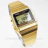 CASIO卡西歐 DB-380G-1 街頭潮流必備配件 DATABANK 電子錶 金色離子IP處理 時間玩家 DB-380G-1DF