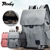 『潮段班』【VR00A233】時尚多功能大容量雙肩包鋁旅行包充電包學生帆布包書包