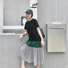 半價 洋裝 短袖連身裙~6096寬松大碼...