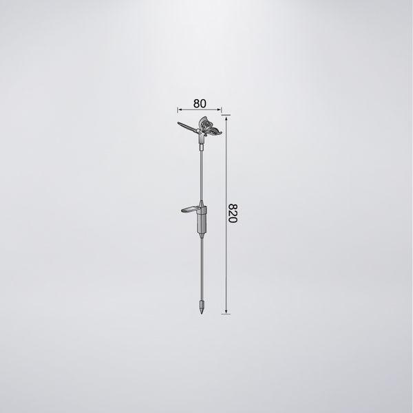 LED太陽能插地燈 附LED五彩跳色慢閃1粒 蝴蝶樣式