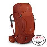 【美國OSPREY】10000141-KESTREL 58 健行登山背包56L『赤火紅』S/M