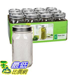 [107美國直購] 梅森瓶 Ball Quart Jar, Wide Mouth, Set of 12 B00CNHCDR6