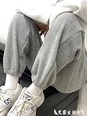 休閒褲 灰色運動褲女寬鬆束腳春秋夏2021新款顯瘦百搭小個子哈倫休閒衛褲 艾家