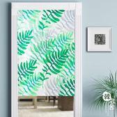 夏季hello綠葉子加厚棉麻門簾布藝廚房半簾客廳臥室隔斷簾過門簾【韓衣舍】