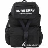 BURBERRY 大型 Logo徽標印花尼龍後背包(黑色) 1920724-01