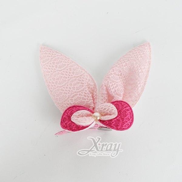 節慶王【W024050】兔子髮夾(粉),萬聖節/髮夾/飾品/Party/角色扮演/化妝舞會/表演造型