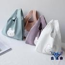 帆布收納袋帆布包手提袋便當日式手機手腕袋可愛【古怪舍】