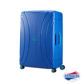 AT美國旅行者 25 吋Lock 'N' Roll PP硬殼三點式TSA鎖扣行李箱(藍)