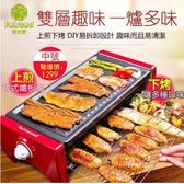 電燒盤110V爐韓式家用不粘烤盤無煙烤肉機室內鐵板燒烤肉鍋【中號】MKS 歐萊爾藝術館