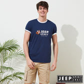 【JEEP】網路限定 經典狐狸LOGO短袖TEE-男女適穿-藍