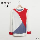 東京著衣【KODZ】KODZ-造型撞色針織上衣-S.M(5019093)