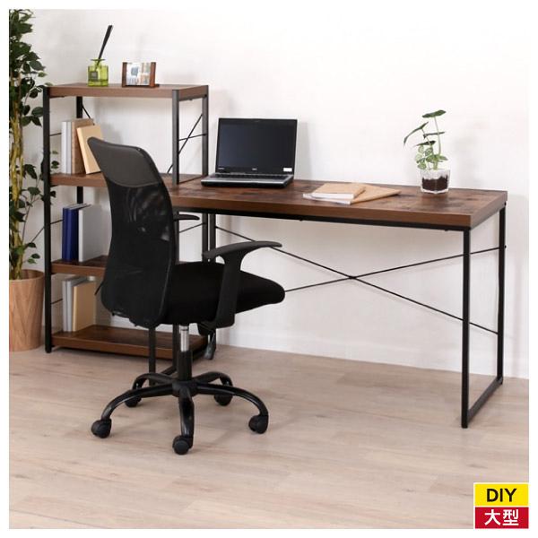 ◆工業風電腦桌 辦公桌 書桌 N STAIN 120 BR NITORI宜得利家居